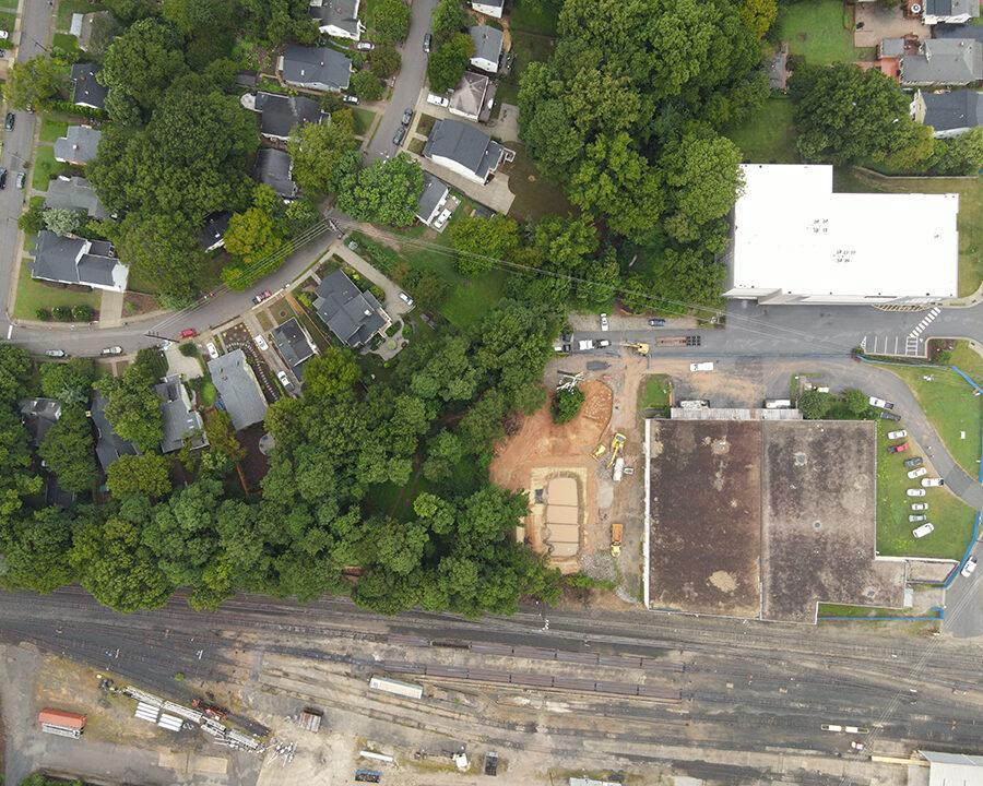 aerial of building
