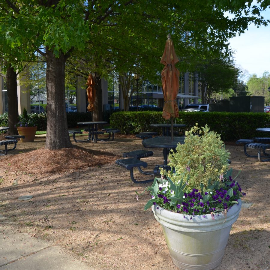 office park picnic tables