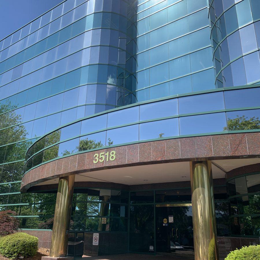 Office building entrance